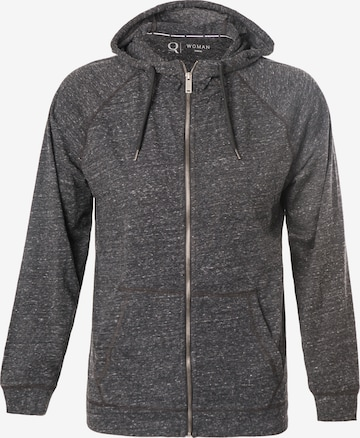 ENDURANCE Athletic Zip-Up Hoodie 'Olivia' in Black