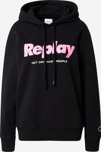 REPLAY Sweatshirt in pink / schwarz, Produktansicht