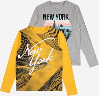 NAME IT T-Shirt 'VUX' en jaune / gris chiné / noir, Vue avec produit