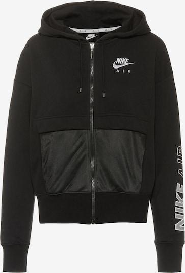 Nike Sportswear Zip-Up Hoodie in Black / White, Item view