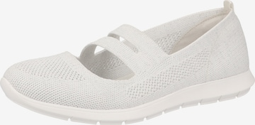 REMONTE Ballet Flats with Strap in White