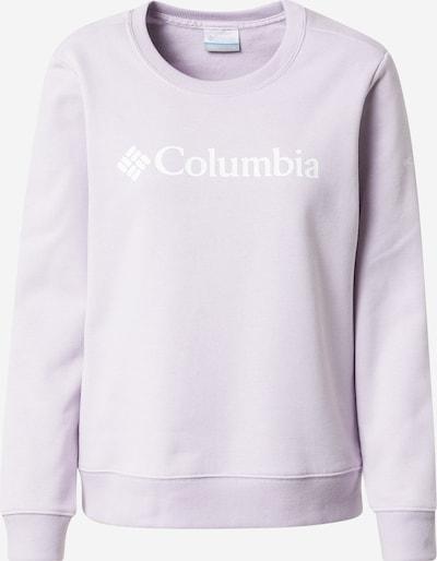 COLUMBIA Sweatshirt in helllila / weiß, Produktansicht