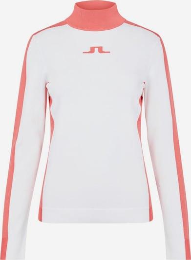 J.Lindeberg Sportpullover 'Adia' in lachs / weiß, Produktansicht