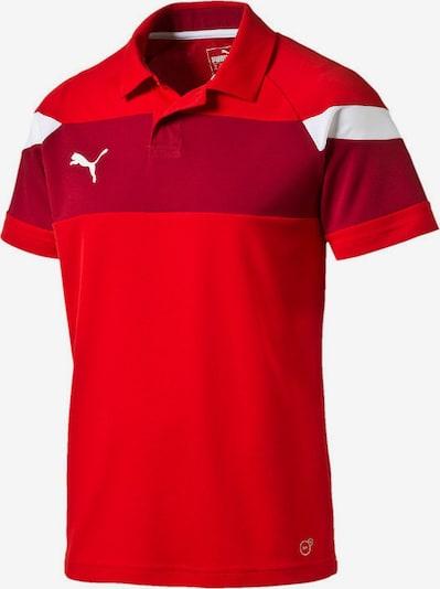 PUMA Poloshirt in rot / dunkelrot / weiß, Produktansicht
