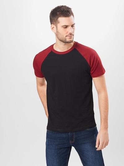Urban Classics T-Krekls, krāsa - burgundieša / melns: Priekšējais skats