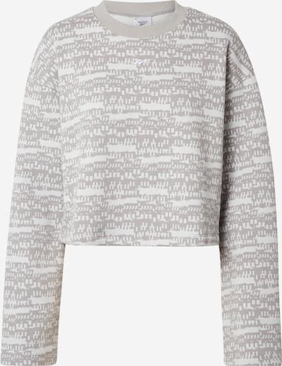 Reebok Sport Sportska sweater majica u srebrno siva / bijela, Pregled proizvoda