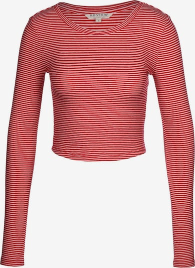 Review Crop Top ' Rib Crew Neck  ' in rosa / dunkelpink, Produktansicht