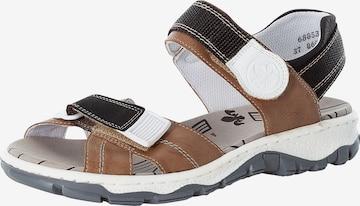 RIEKER Hiking Sandals in Brown
