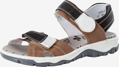 RIEKER Sandale in braun / schwarz / weiß, Produktansicht