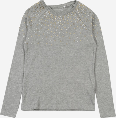 NAME IT Shirt 'FREKA' in gold / graumeliert / silber, Produktansicht
