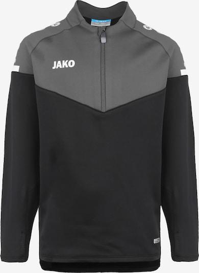 JAKO Sweatshirt in anthrazit / dunkelgrau / schwarz / naturweiß, Produktansicht