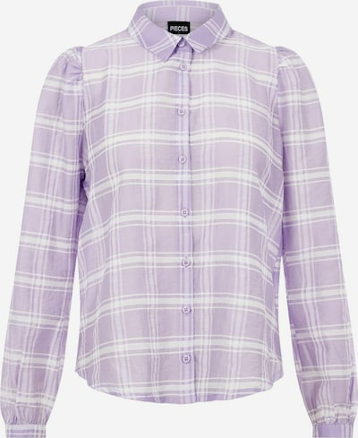 PIECES Langarmhemd in lila, Produktansicht