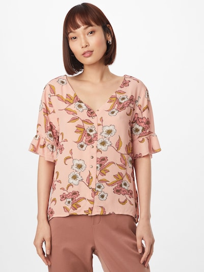 Superdry Блуза в бежово / златистожълто / маслина / сьомга / розе, Преглед на модела