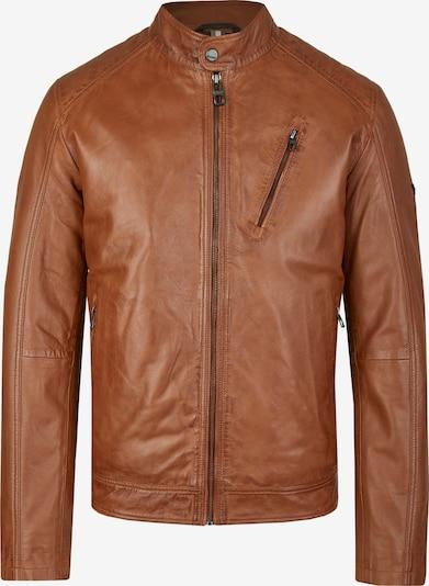 DANIEL HECHTER Sportliche Biker Leder-Jacke in braun, Produktansicht
