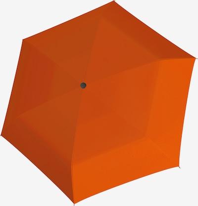 Doppler Regenschirm 'Fiber Havanna' in orange, Produktansicht