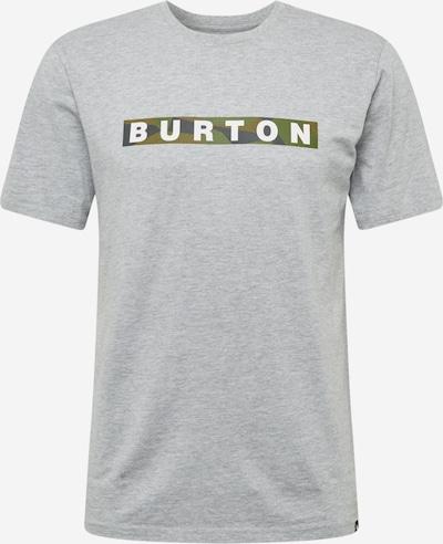 BURTON Sporta krekls 'VAULT' raibi pelēks / zāles zaļš / balts, Preces skats