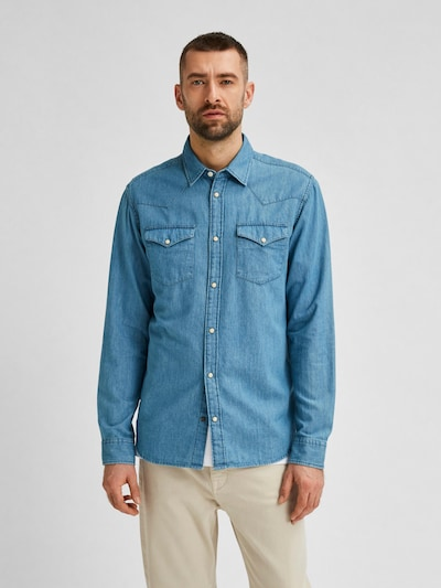 SELECTED HOMME Shirt 'Jamie' in blue, View model