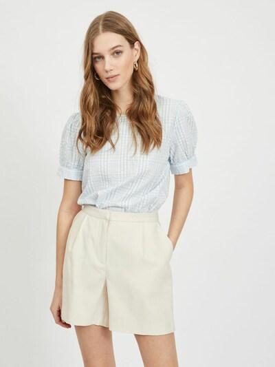 VILA Bluzka w kolorze pastelowy niebieski / białym, Podgląd na modelu(-ce)