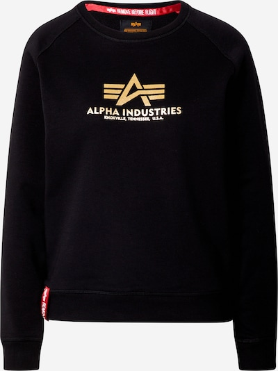 ALPHA INDUSTRIES Sweatshirt in gold / rot / schwarz, Produktansicht