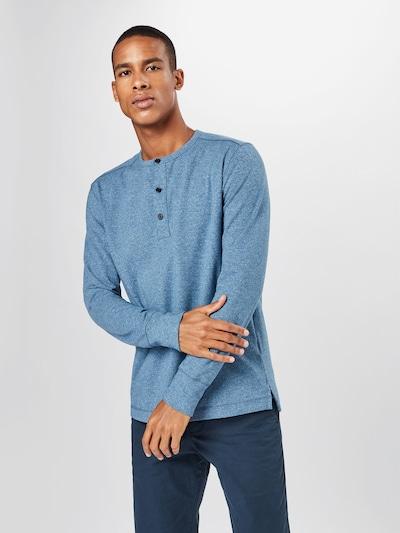 Marškinėliai iš Banana Republic , spalva - mėlyna dūmų spalva: Vaizdas iš priekio
