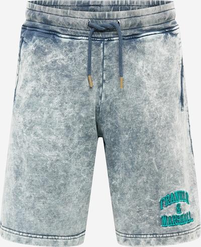 FRANKLIN & MARSHALL Shorts in blue denim / grün, Produktansicht