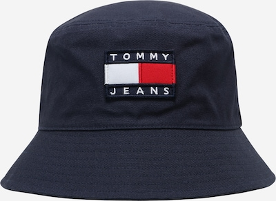 Tommy Jeans Шапка с периферия 'HERITAGE' в нейви синьо / светлочервено / бяло, Преглед на продукта