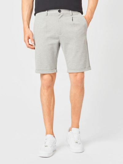 Lindbergh Plisované nohavice - sivá melírovaná, Model/-ka