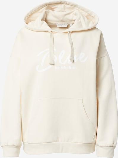 TOM TAILOR DENIM Sweatshirt in beige / weiß, Produktansicht