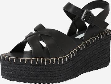 Pepe Jeans Σανδάλι με λουράκια 'WITNEY RIVER' σε μαύρο