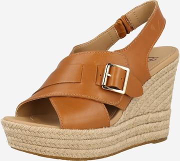 Sandale cu baretă 'CLAUDEENE' de la UGG pe maro