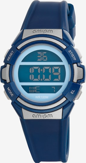 AM:PM Digitaluhr 'Colorful electronic sport watch' in blau, Produktansicht