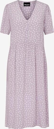 Rochie tip bluză 'Selma' PIECES pe mauve / alb, Vizualizare produs