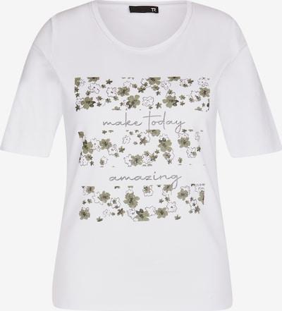Thomas Rabe Shirt in khaki / dunkelgrün / silber / weiß, Produktansicht