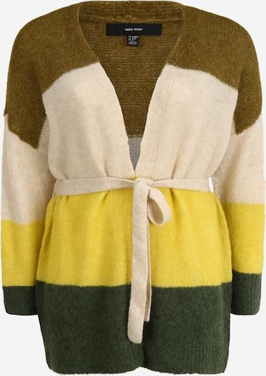 Vero Moda Curve Kardigan 'ISABELLA' w kolorze beżowy / żółty / zielony / oliwkowym, Podgląd produktu