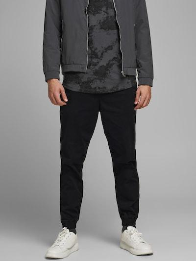 JACK & JONES Byxa 'JJIGORDON JJLANE' i svart, På modell