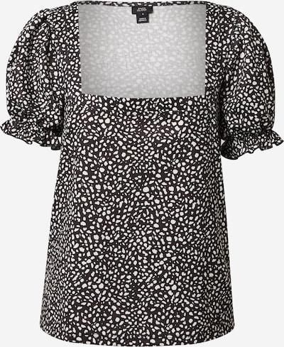 River Island Shirt 'Square' in schwarz / weiß, Produktansicht
