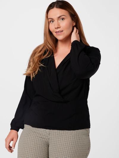 ABOUT YOU Curvy Bluse 'Franja' in schwarz, Modelansicht