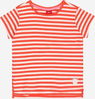 s.Oliver Shirt in dunkelorange / weiß, Produktansicht