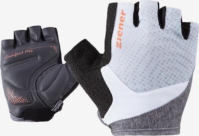 ZIENER Fahrrad-Handschuhe 'Cendal' in graumeliert / schwarz / weiß, Produktansicht
