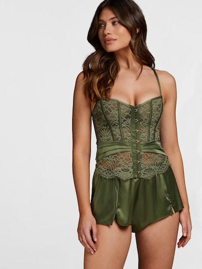 Hunkemöller Pyjamahousut 'Amelia' värissä vihreä: Näkymä edestä