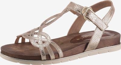 Sandale cu baretă TAMARIS pe auriu, Vizualizare produs