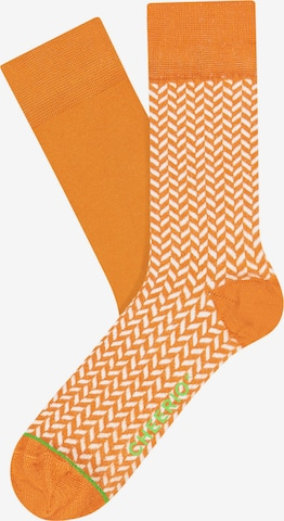 CHEERIO* Socks 'Heringbone Homi' in Yellow