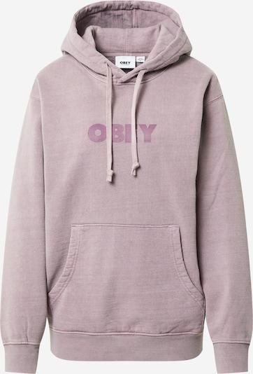 Obey Sweatshirt 'BOLD IDEALS' in taupe / lila, Produktansicht