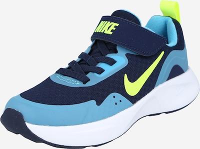 Nike Sportswear Sneaker in marine / rauchblau / neongrün, Produktansicht
