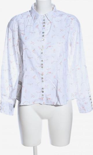 byTiMo Hemd-Bluse in S in khaki / weiß / wollweiß, Produktansicht
