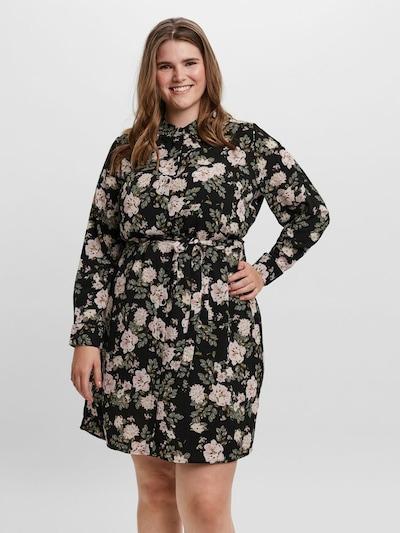 Vero Moda Curve Hemdkleid in mischfarben / schwarz, Modelansicht