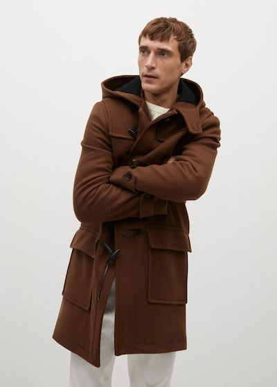 MANGO MAN Mantel 'Faro' in braun, Modelansicht