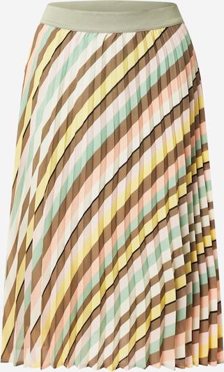MORE & MORE Kjol i brun / gul / pastellgrön / rosa / vit, Produktvy