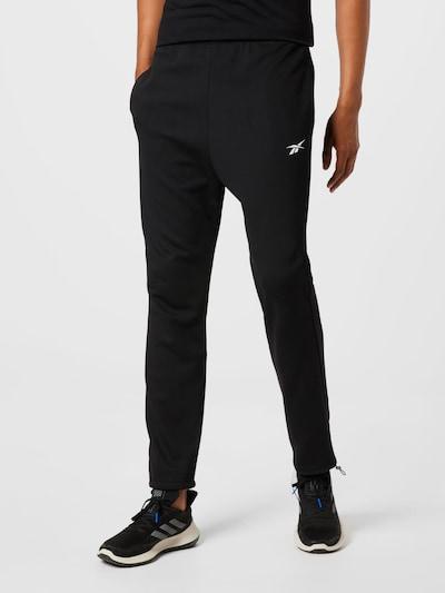 Reebok Sport Sporthose in schwarz / weiß: Frontalansicht