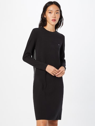 Calvin Klein Gebreide jurk in Zwart